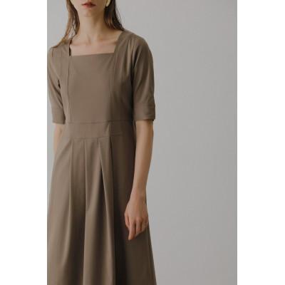 RIM.ARK リムアーク Square neck long dress/ドレス・ワンピース レディース ライトブラウン 36