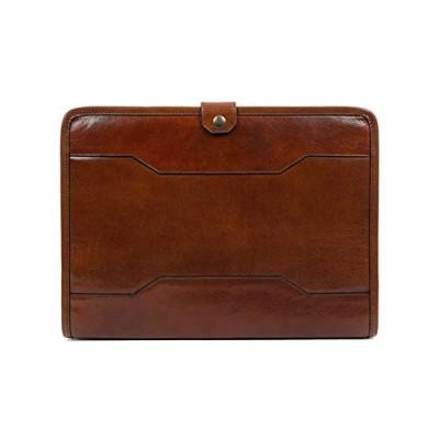 Time Resistance Hand-Crafted Full Grain Leather Documents Holder Leather Organizer Portfolio Laptop Holder (Amber) 並行輸入品