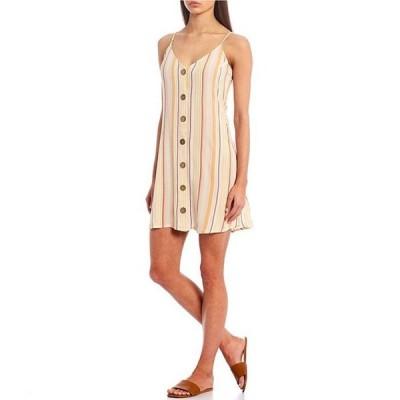 ビラボン レディース ワンピース トップス Sweet For Ya Stripe Button-Front Dress