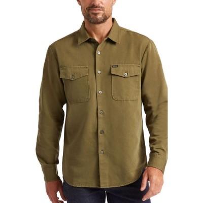ブリクストン BRIXTON メンズ シャツ トップス Davis Reserve Button-Up Shirt Olive