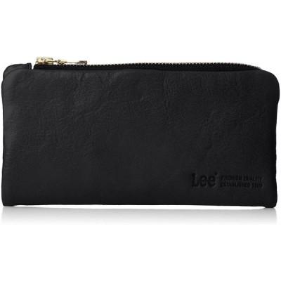 [リー] 財布 高級イタリアンソフトレザー 二つ折り ブラック