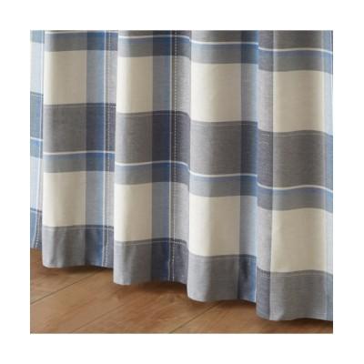 【送料無料!】ナチュラルチェック柄ジャガード織カーテン ドレープカーテン(遮光あり・なし) Curtains, blackout curtains, thermal curtains, Drape(ニッセン、nissen)