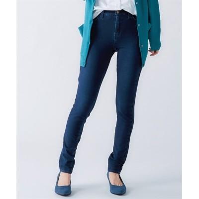 【大きいサイズ】 柔らかストレッチニットデニムスキニーパンツ(ゆったり太もも)(選べる2レングス) パンツ, plus size pants
