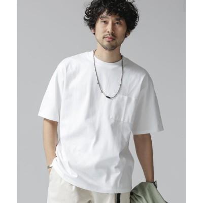 (nano・universe/ナノユニバース)Anti Soaked ヘビークルーネックビッグTシャツ/メンズ ホワイト