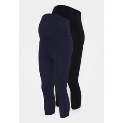 アンナ フィールド ママ レディース レギンス ボトムス 2 PACK - Leggings - Trousers - black/dark blue black/dark blue