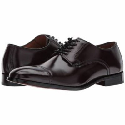ジョンストン&マーフィー 革靴・ビジネスシューズ Bradford Cap Toe Burgundy Brush-Off