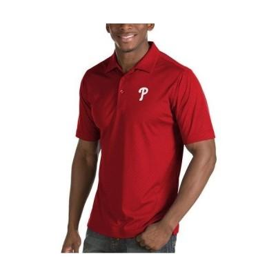 ユニセックス スポーツリーグ メジャーリーグ Philadelphia Phillies Antigua Inspire Desert Dry Polo - Red Tシャツ