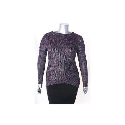 グレースアパレル セーター ニット Grace エレメンツ パープル 長袖 クルーネック セーター サイズ M 70LAFO