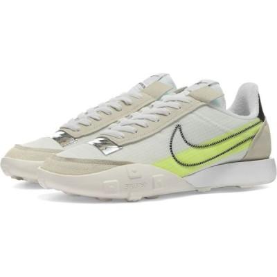 ナイキ Nike レディース スニーカー シューズ・靴 affle Racer 2X Stitch White/Black/Volt