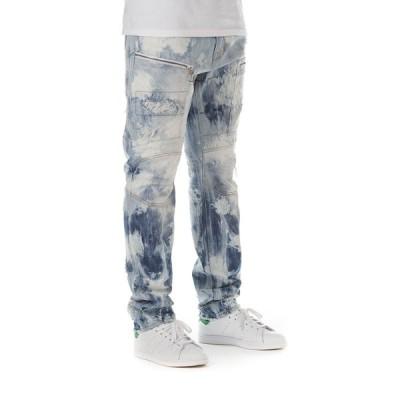 ジーンズ アクー Akoo Camden Jeans in North Pole Wash (Very Light Blue) Distressed 781-1174