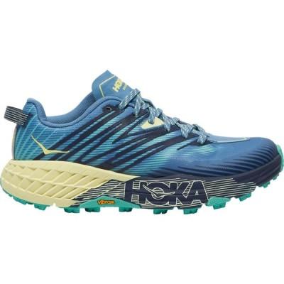 ホカ オネオネ HOKA ONE ONE レディース ランニング・ウォーキング シューズ・靴 Speedgoat 4 Provincial Blue/Luminary Green