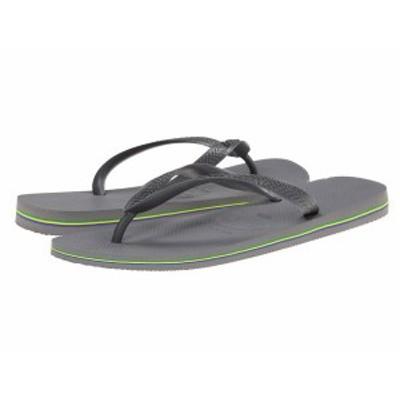 ハワイアナス メンズ サンダル シューズ Brazil Flip Flops Steel Grey