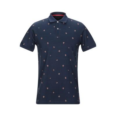マニュエル リッツ MANUEL RITZ ポロシャツ ダークブルー S コットン 92% / ポリウレタン 8% ポロシャツ
