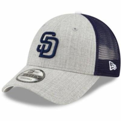New Era ニュー エラ スポーツ用品  New Era San Diego Padres Heathered Gray/Navy Turn Trucker 9FORTY Adjustable Snapback Hat