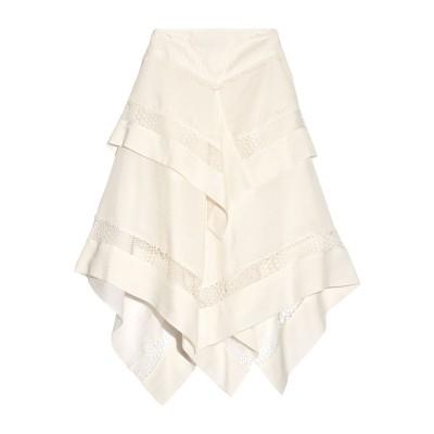 WES GORDON 7分丈スカート アイボリー 6 シルク 51% / ウール 49% 7分丈スカート
