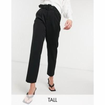 ヴェロモーダ Vero Moda Tall レディース ボトムス・パンツ Cigarette Trouser With Belted Waist In Black ブラック