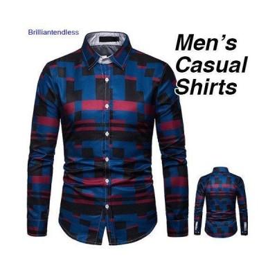 シャツ メンズ 長袖 無地 柄 おしゃれ 長袖シャツ 大きいサイズ トップス インナー 紳士 キレイめ