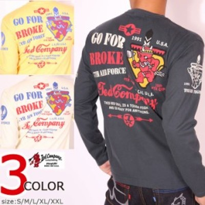 先着ありMAX1,000円offクーポン★TEDMAN テッドマン 7TH AIR FORCE ロンT(TDLS-311)長袖 Tシャツ エフ商会 ロングTシャツ