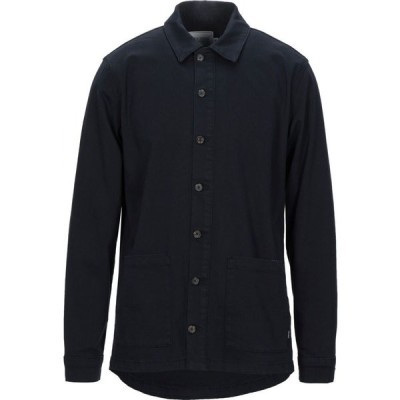 レドゥ LES DEUX メンズ シャツ トップス Solid Color Shirt Dark blue