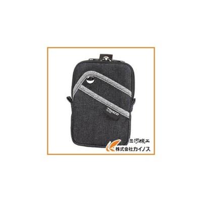 TRUSCO デニムコンパクトケース 3ポケット ブラック TDC-K104
