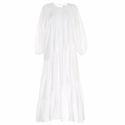 リーマシューズ Lee Mathews レディース ワンピース ミドル丈 ワンピース・ドレス Elsie cotton-blend midi dress Natural