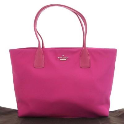 本物保証 布袋付 美品 ケイトスペード KATE SPADE トートバッグ ナイロン レザー ピンク