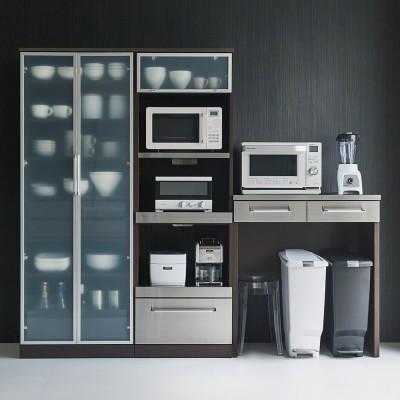 SmartII スマート2 ステンレスシリーズキッチン収納 ステンレスレンジボード 幅60cm ウェンジケイ