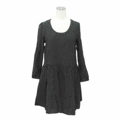 美品 PAGEBOY Dot long sleeve dress「M」ページボーイ ドット 長袖 ワンピース 089492【中古】