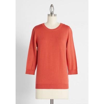 モドクロス ModCloth レディース ニット・セーター トップス charter school pullover sweater red