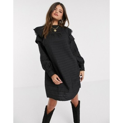 ヴェロモーダ Vero Moda レディース ワンピース ワンピース・ドレス textured smock dress in black ブラック
