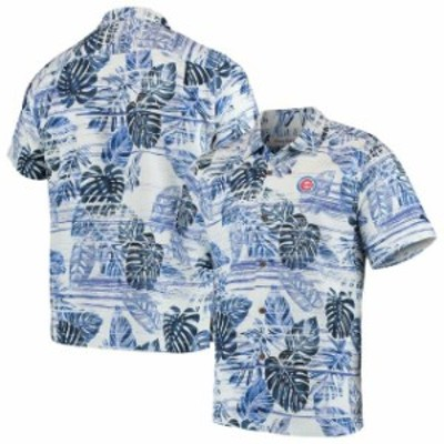 Tommy Bahama トミー バハマ スポーツ用品  Tommy Bahama Chicago Cubs Royal Sport Super Fan Silk Camp Shirt