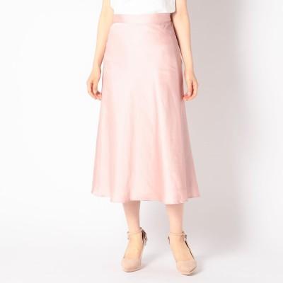 ミッシュマッシュ MISCH MASCH サテンマーメイドスカート (ピンク)