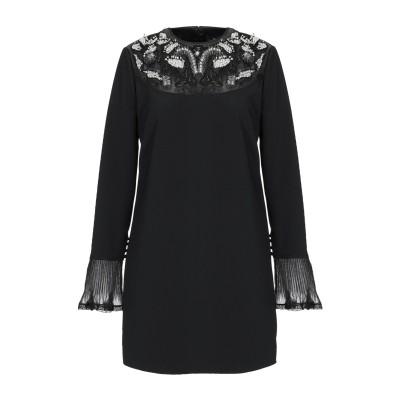 ELISABETTA FRANCHI ミニワンピース&ドレス ブラック 46 ポリエステル 96% / ポリウレタン 4% ミニワンピース&ドレス