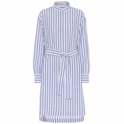 アクネ ストゥディオズ Acne Studios レディース ワンピース ワンピース・ドレス Striped cotton dress Blue/White