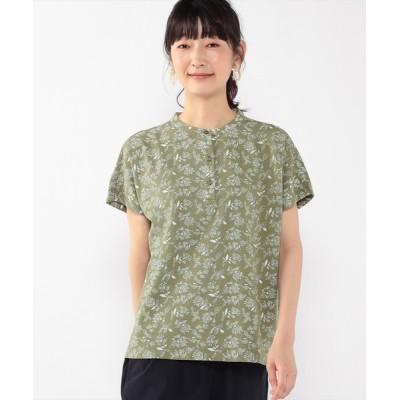 CROSSPLUS ONLINE / ひやさらコットンプリントポロシャツ WOMEN トップス > ポロシャツ