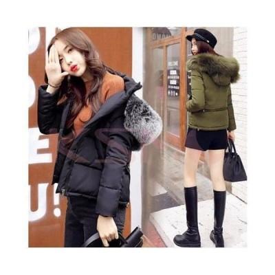 ショート丈 レディースファッション 中綿コートフェイクファー厚手 シンプル   暖かい アウター 大きいサイズ 大人 防寒  冬服