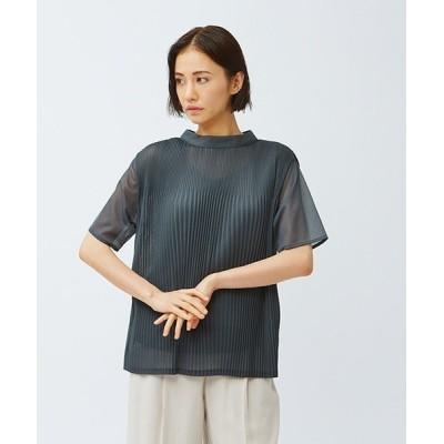 LAUTREAMONT ONLINE SHOP / 《セットアップ対応》【インナー付き】シアー素材のプリーツジャージーカットソー WOMEN トップス > Tシャツ/カットソー