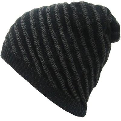 ニット帽 ワッチキャップ リバーシブル帽 大きいサイズ 厚手 柄編み 模様編み メンズ レディース