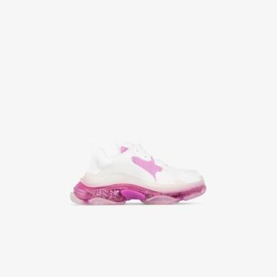 バレンシアガ Balenciaga レディース スニーカー シューズ・靴 white and pink Triple S clear sole sneakers white