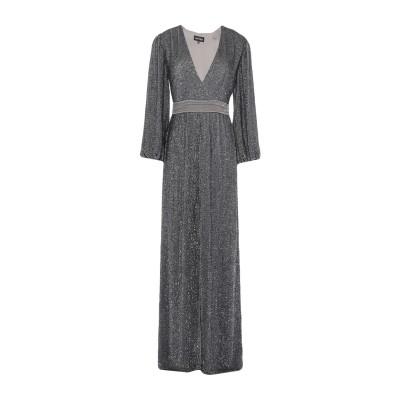 RETROFÊTE ロングワンピース&ドレス 鉛色 XS レーヨン 100% ロングワンピース&ドレス