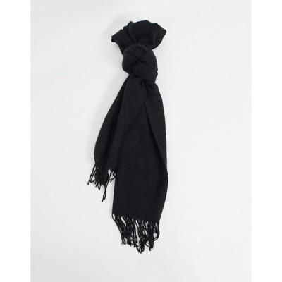 ジャック アンド ジョーンズ メンズ マフラー・ストール・スカーフ アクセサリー Jack & Jones scarf in black
