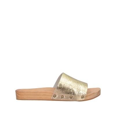 WOODCIOCK サンダル ゴールド 35 革 サンダル