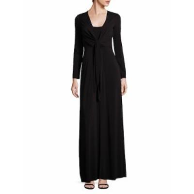 アリス+オリビア レディース ワンピース Salina Tie-Front Gown
