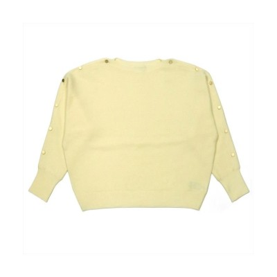 (BRICKHOUSE/ブリックハウス)ウィメンズシャツニット 袖釦付き ドルマンプルオーバー オフホワイト系/レディース シロ