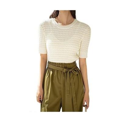 半袖 セーター ニット レディース ファッション
