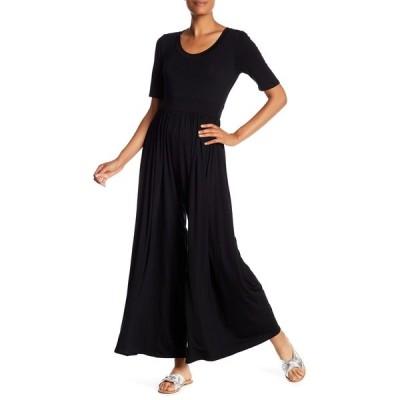 ウエスト ケイ レディース ワンピース トップス Elbow Sleeve Wide Leg Jumpsuit BLACK
