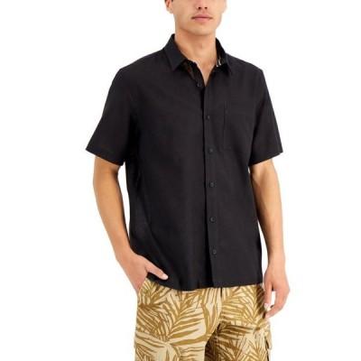 サンストーン メンズ シャツ トップス Men's Victor Regular-Fit Garment-Dyed Linen Shirt