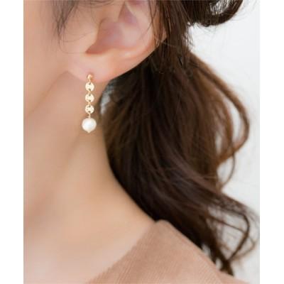 TONE / 【Meach.】14kgfコットンパールのシンプルなゴールドピアス WOMEN アクセサリー > ピアス(両耳用)