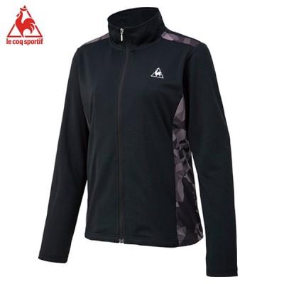 ルコック LE COQ ELEGANCE SPORTS  シャツ  ジャケット  テニス  ウォームアップウェアQTWRJK01-BLK