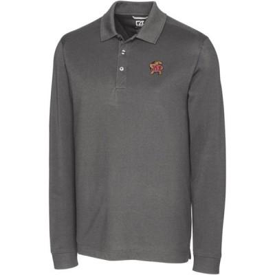 カッター&バック Cutter & Buck メンズ ポロシャツ トップス Maryland Terrapins Grey Advantage Long Sleeve Polo